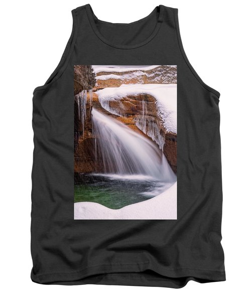 The Basin, Close Up In A Winter Storm Tank Top