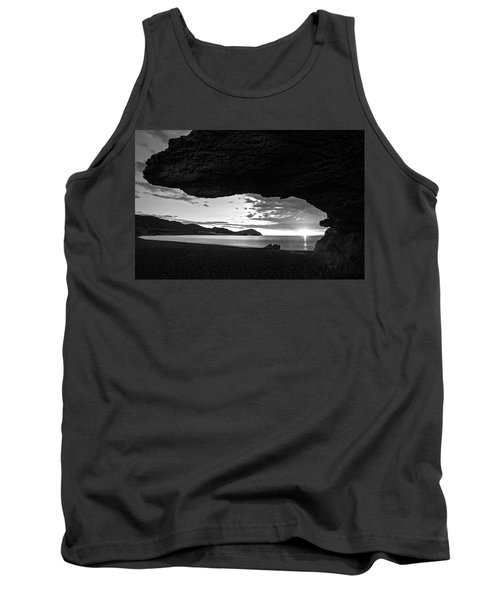 The Beach Of The Sculptures At Dawn In Almeria Tank Top