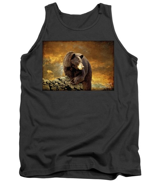 The Bear Went Over The Mountain Tank Top