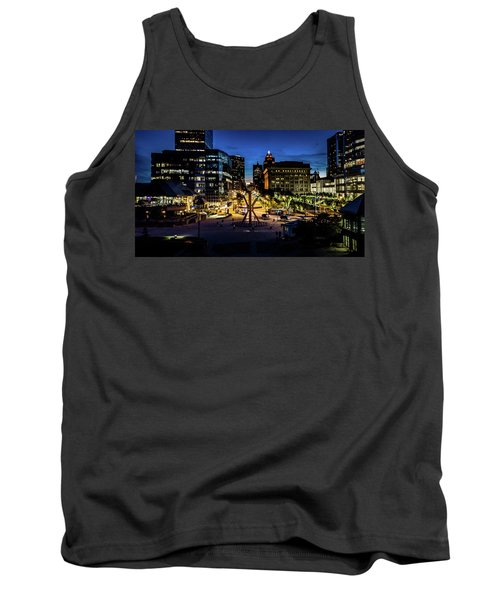 Tank Top featuring the photograph The Calling At Blue Hour by Randy Scherkenbach