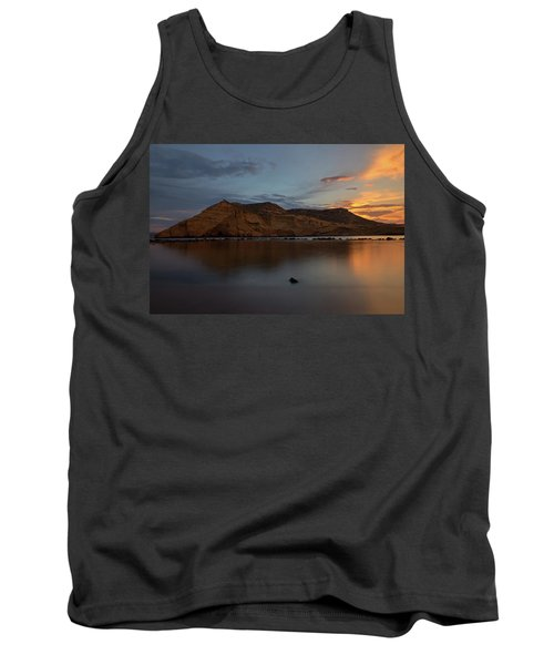 The Closed Cove In Aguilas At Sunset, Murcia Tank Top