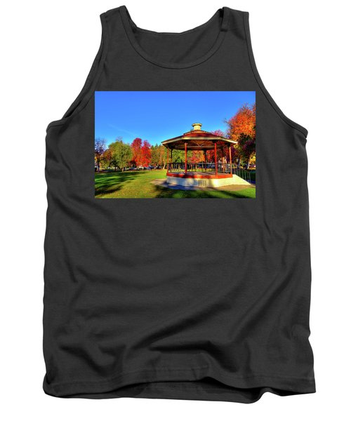 Tank Top featuring the photograph The Gazebo At Reaney Park by David Patterson
