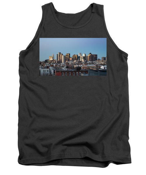 The Skyline Of Boston In Massachusetts, Usa On A Clear Winter Ev Tank Top