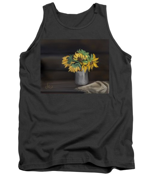 Tank Top featuring the painting The Sun Flowers  by Fe Jones