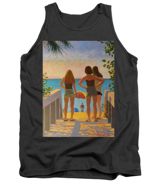 Three Beach Girls Tank Top
