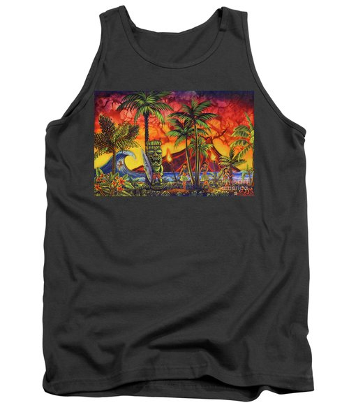 Tiki Surf A Lot Tank Top