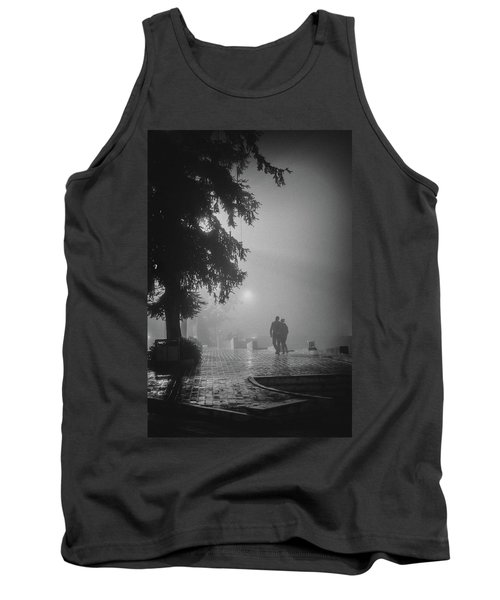 Tank Top featuring the photograph Together In Fog, Sa Pa, 2014 by Hitendra SINKAR