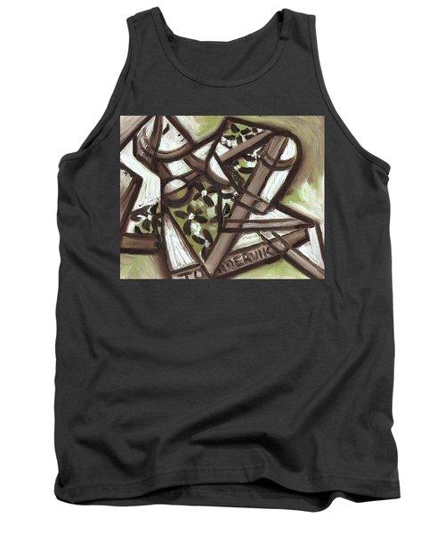 Tommervik Cubist Hawaiian Woman Art Print Tank Top