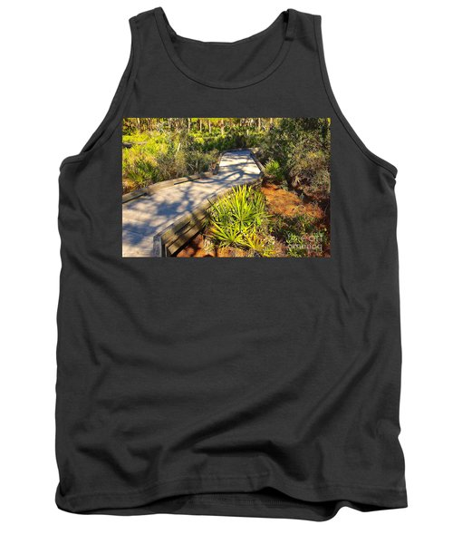 Trail In Tropical Park Tank Top