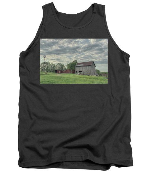 Train Cars And A Barn Tank Top