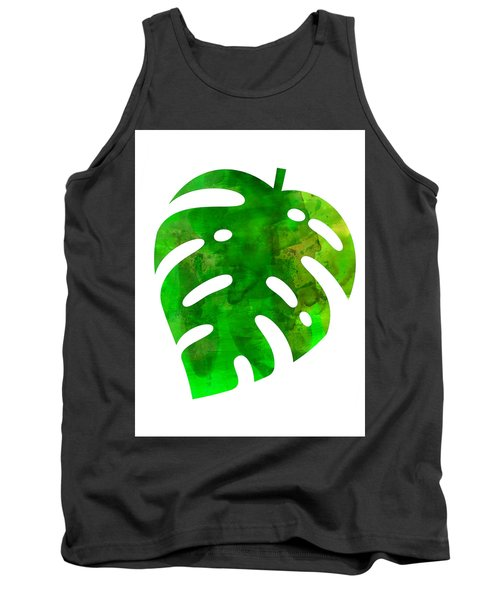 Tropical Monstera Leaf Tank Top