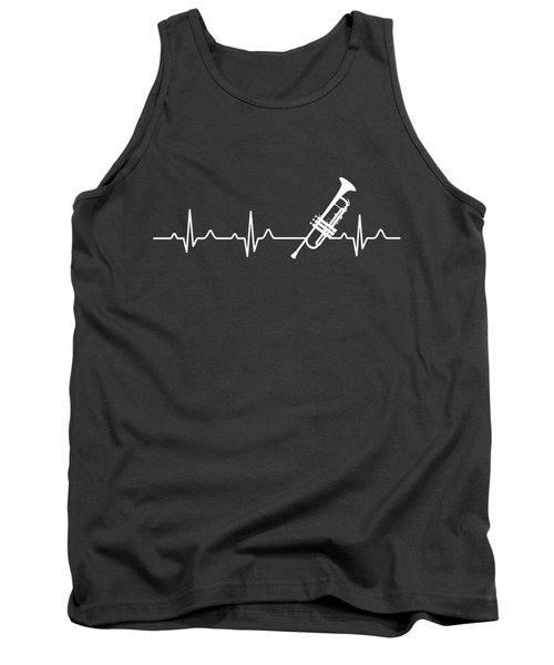 Trumpet Heartbeat For Your Hobbie Tees Tank Top