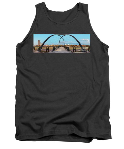 Twilight Panorama Of Bill Coats Bridge Over Brays Bayou - City Of Houston Texas Medical Center Tank Top