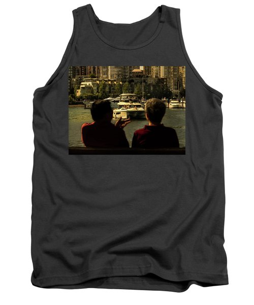 Two Friends At The Vancouver Bay Tank Top