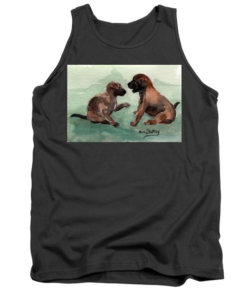 Two Malinois Puppies Tank Top