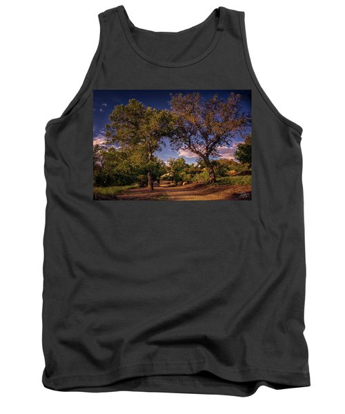Two Old Oak Trees At Sunset Tank Top