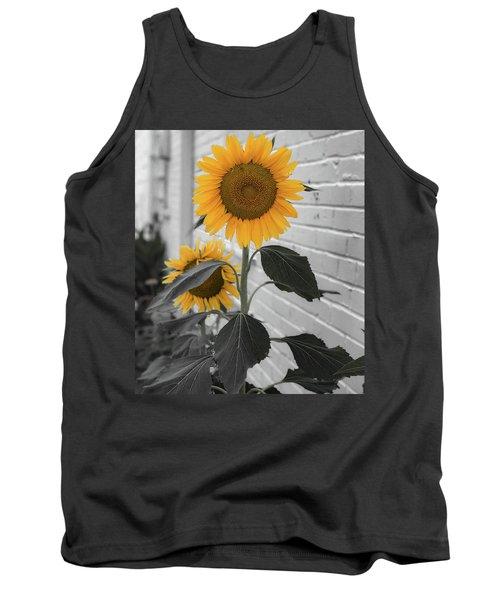 Urban Sunflower - Black And White Tank Top