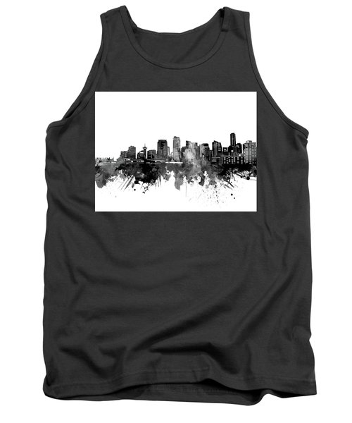 Vancouver Skyline Bw Tank Top
