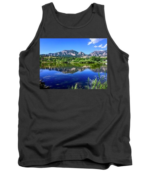 Tank Top featuring the photograph Viele Lake 3 by Dan Miller