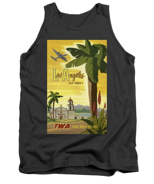 Vintage Travel Poster - Los Angeles Tank Top
