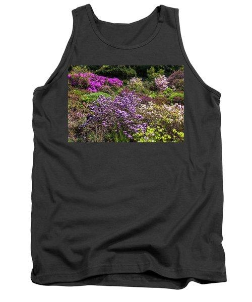 Walk In Spring Eden. Blooming Azaleas Tank Top
