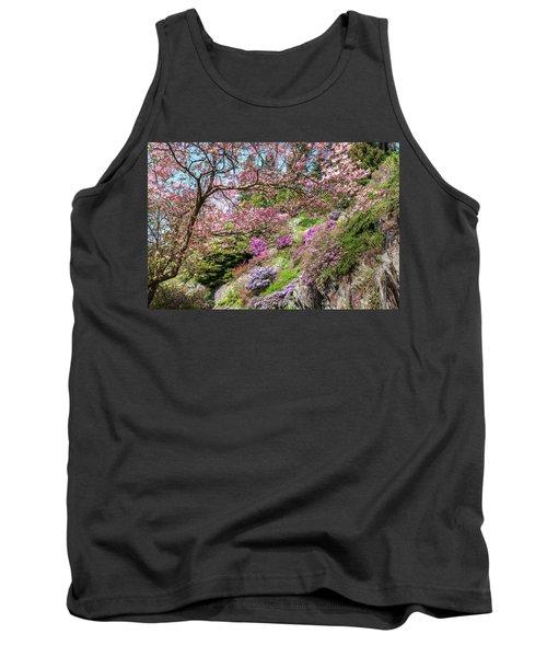 Walk In Spring Eden. Dogwood Tree Blossom 1 Tank Top