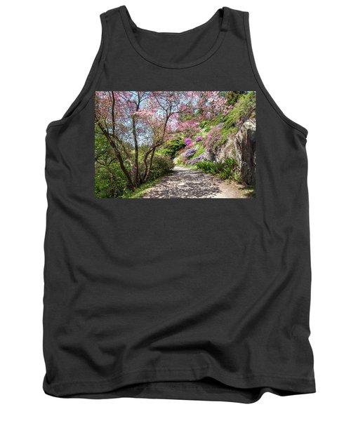 Walk In Spring Eden. Dogwood Tree Blossom Tank Top
