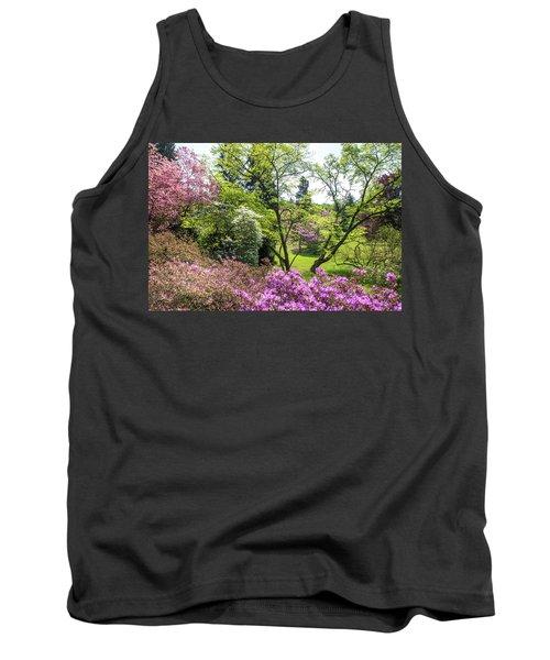 Walk In Spring Eden. Lush Blooms Tank Top