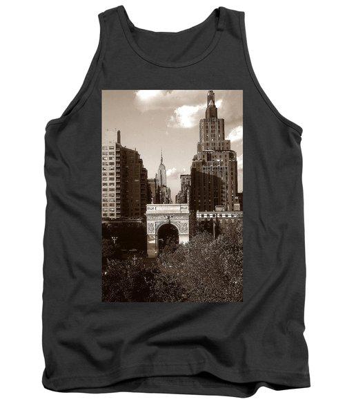Washington Arch And New York University - Vintage Photo Art Tank Top