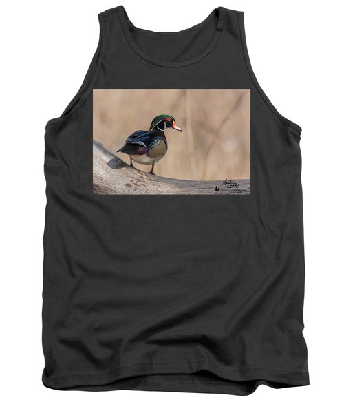 Watchful Wood Duck Tank Top