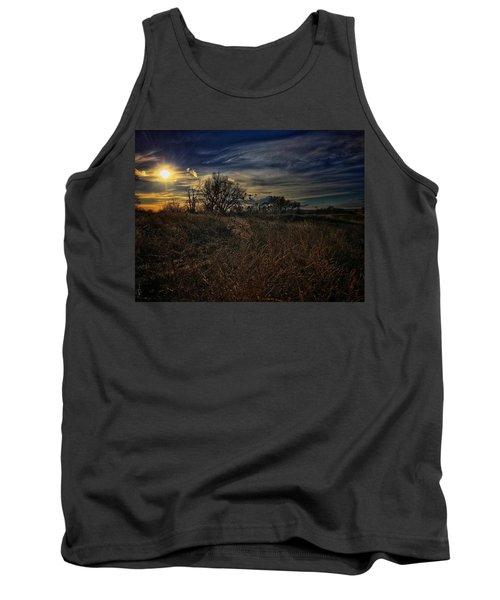 Tank Top featuring the photograph Western Nebraska Winter by Dan Miller