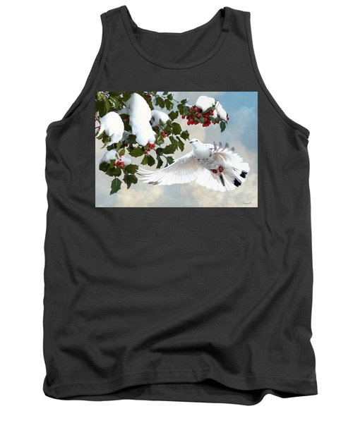 White Dove And Holly Tank Top