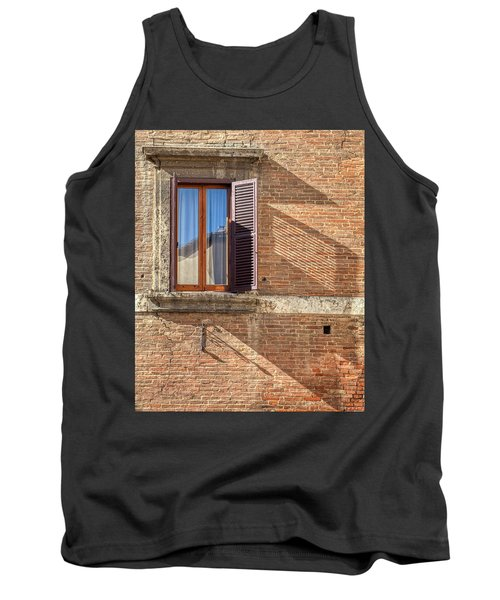 Window Shutter Shadow Of Tuscany Tank Top