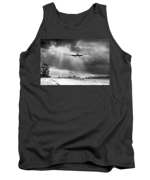 Tank Top featuring the photograph Winter Homecoming Bw Version by Gary Eason