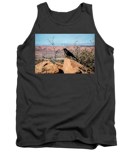 Tank Top featuring the photograph Black Raven by David Morefield