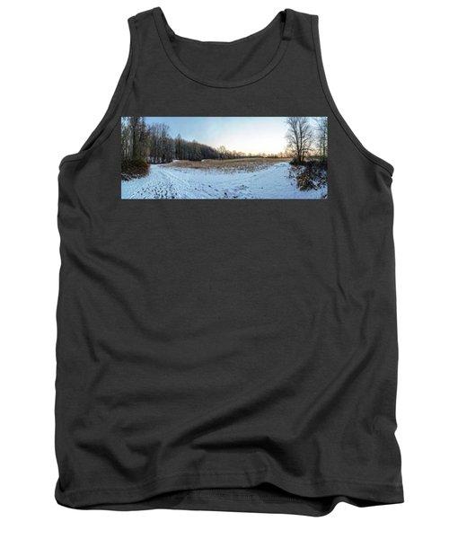 Winter Landscape Pano Tank Top