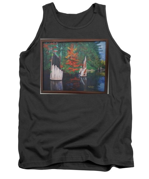 Wolf Lake On Vancouver Island  Tank Top