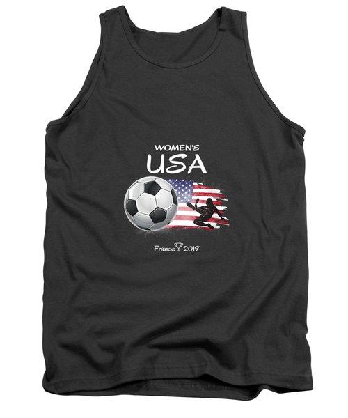 Womens Women Usa Soccer France 2019 Shirt World Tournament V-neck T-shirt Tank Top