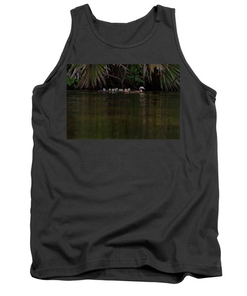Wood Duck And Ducklings Tank Top
