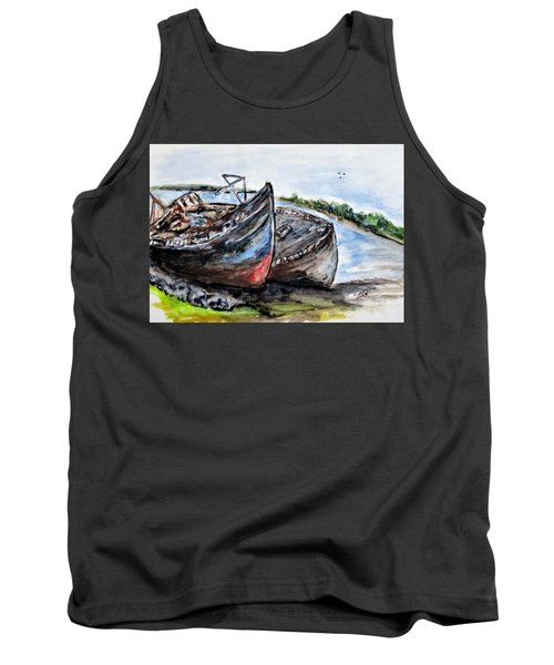 Wrecked River Boats Tank Top
