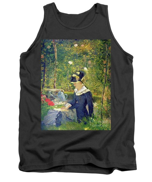 Young Woman At The Entrance Of The Bellevue Garden  Marguerite Tank Top