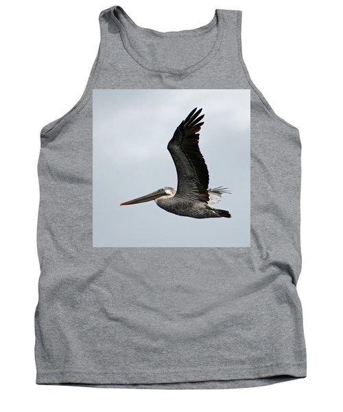 Brown Pelican In Flight Tank Top