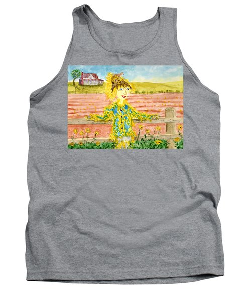 Cheerful Scarecrow Tank Top