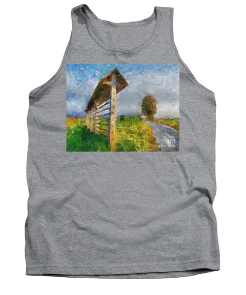 Country Road With Hayrack Tank Top