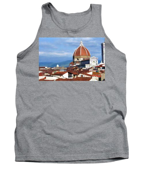 Tank Top featuring the photograph  Duomo Of Florence # 3 by Allen Beatty