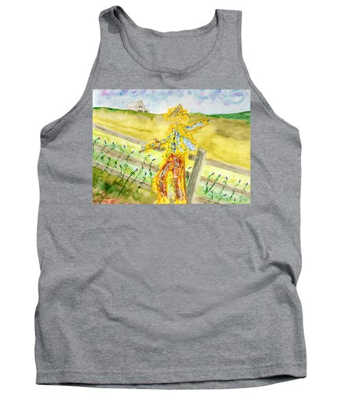 Napping Scarecrow Tank Top
