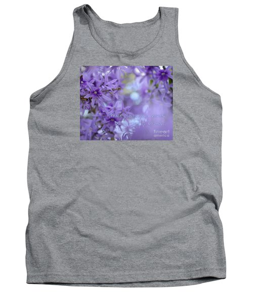 Peace Comes From Within Tank Top by Olga Hamilton