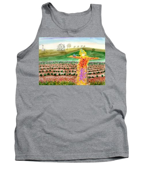 Scarecrow With Nesting Companion Tank Top