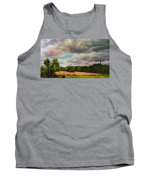 Tank Top featuring the painting  Tennessee Landscape by Joan Reese