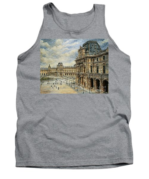 The Louvre Museum Tank Top by Joey Agbayani